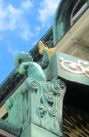 Vienna, cherub on Anchor Clock