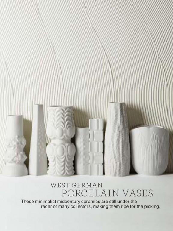 Eye on Design | Mid-century German porcelain | White on White