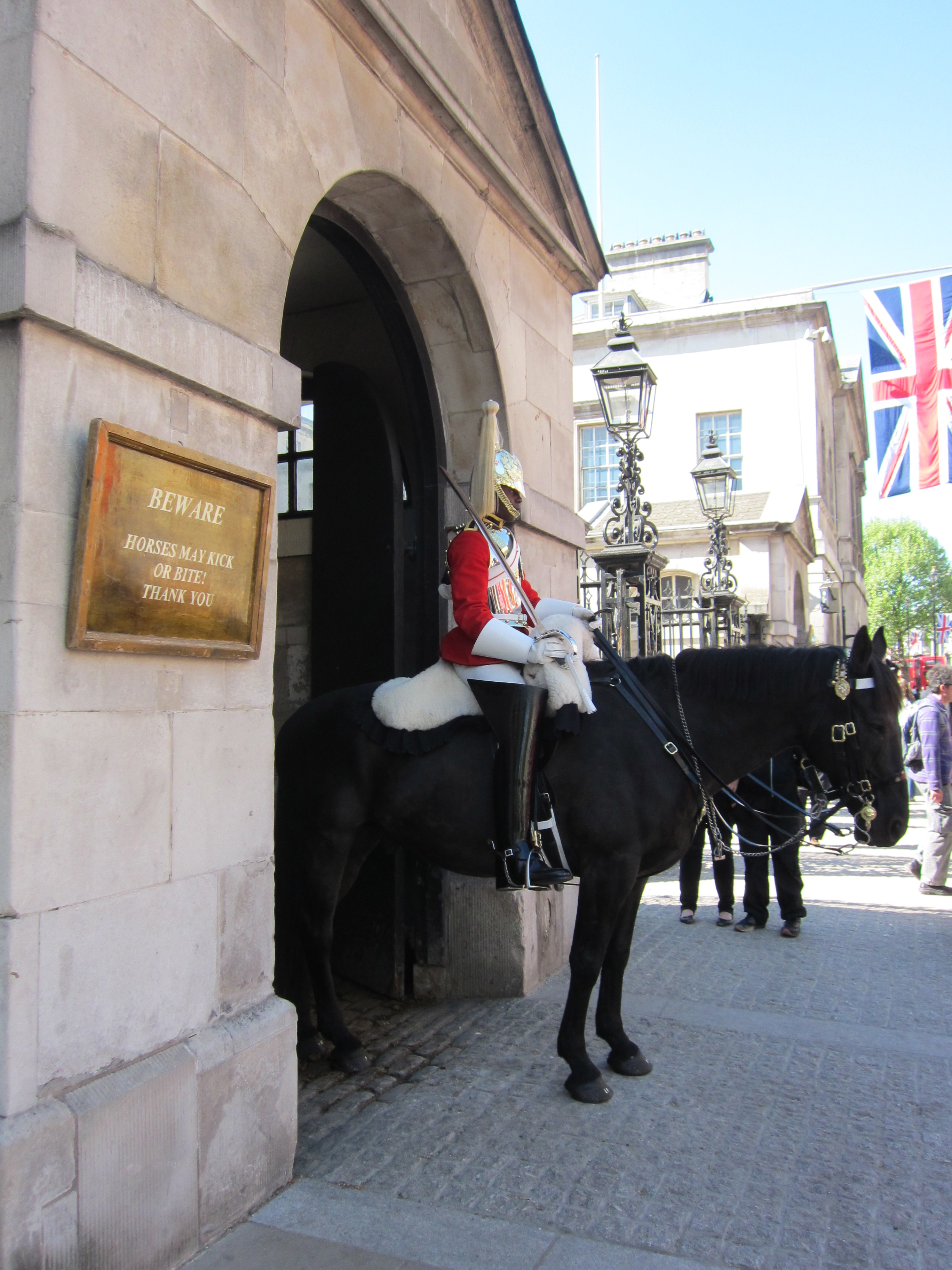 Horse guards, London Royal wedding