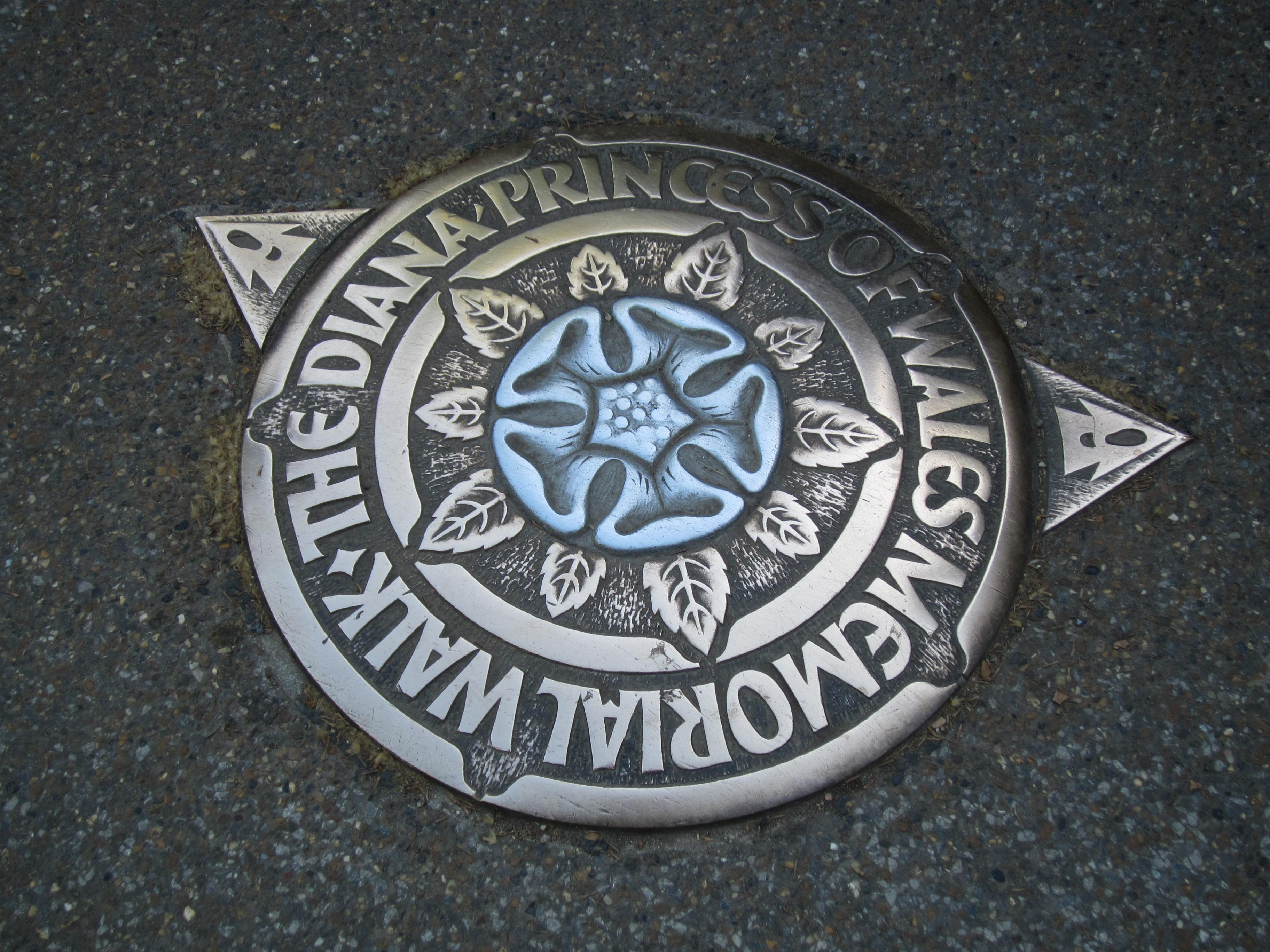 Princess Diana Memorial Walk plaque