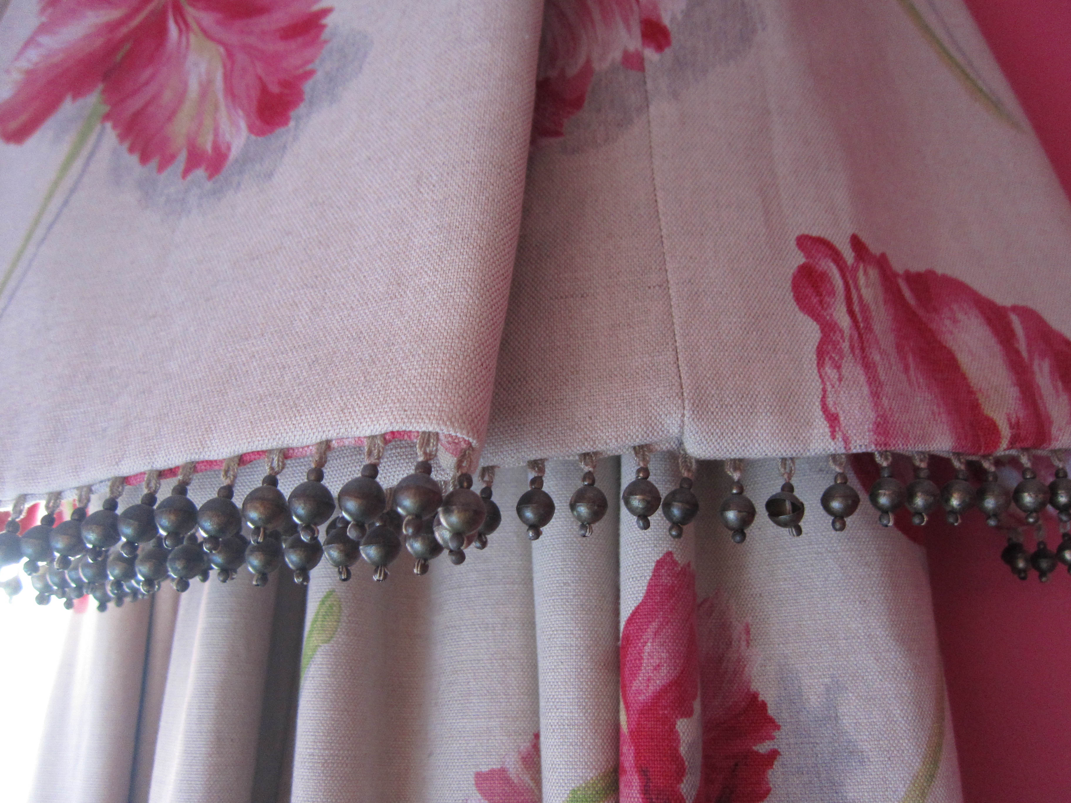 Bead trim for curtains