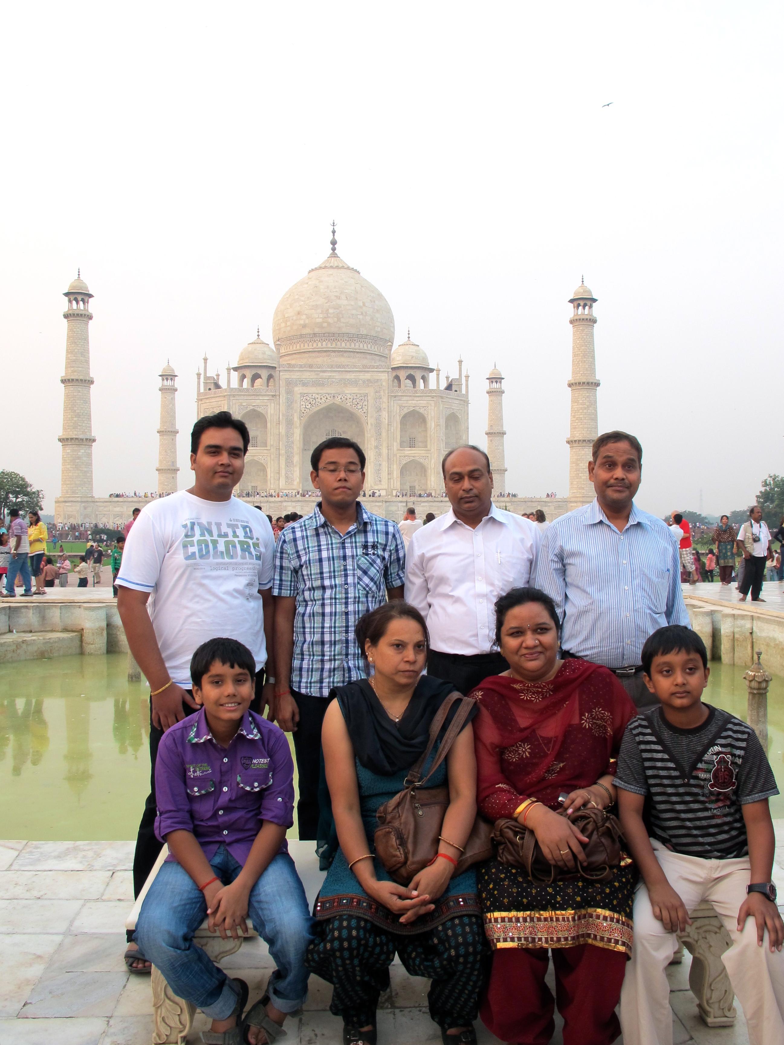 Tourists - Taj Mahal - Agra - India