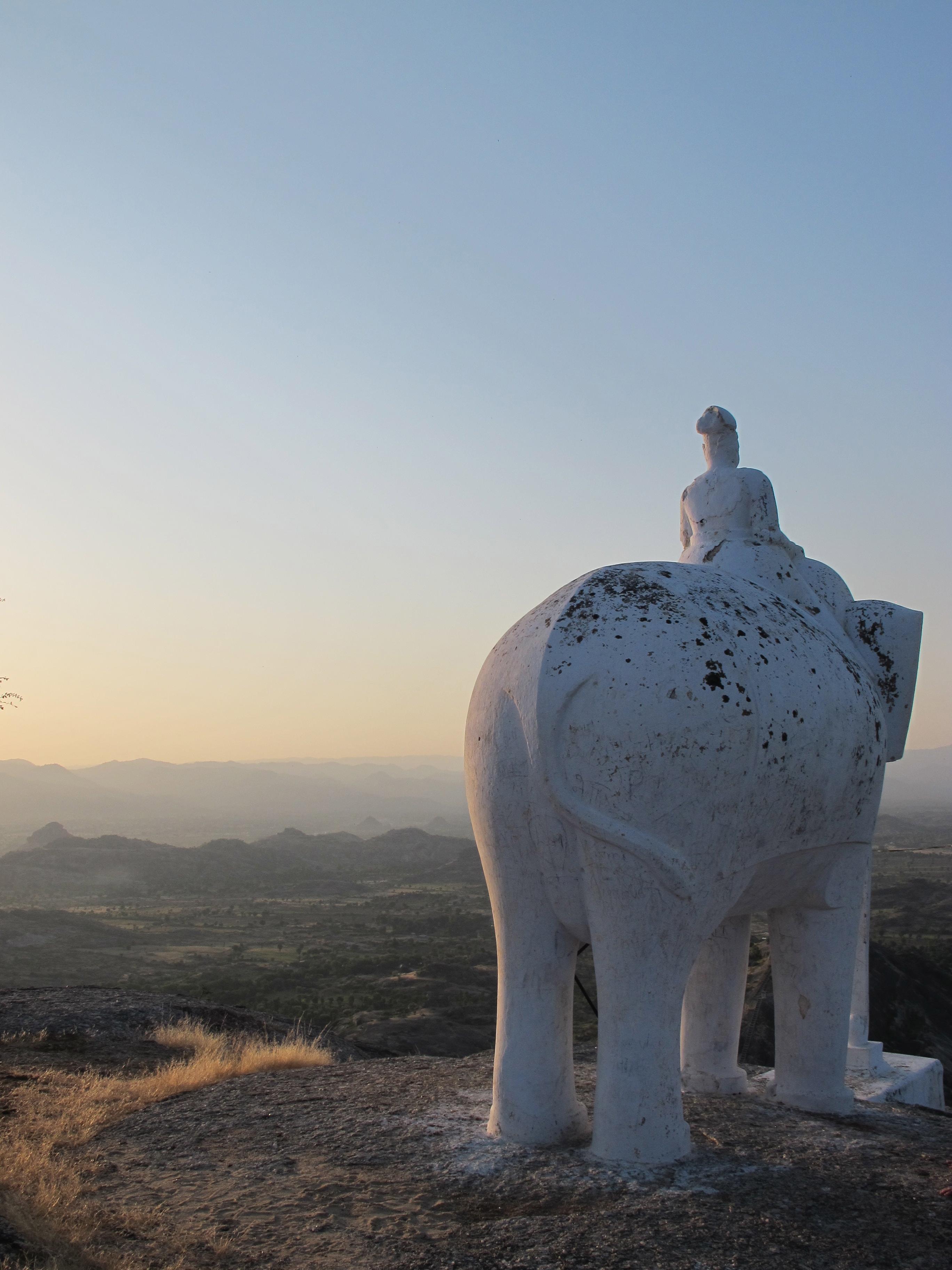 Elephant statue - Narlai - India