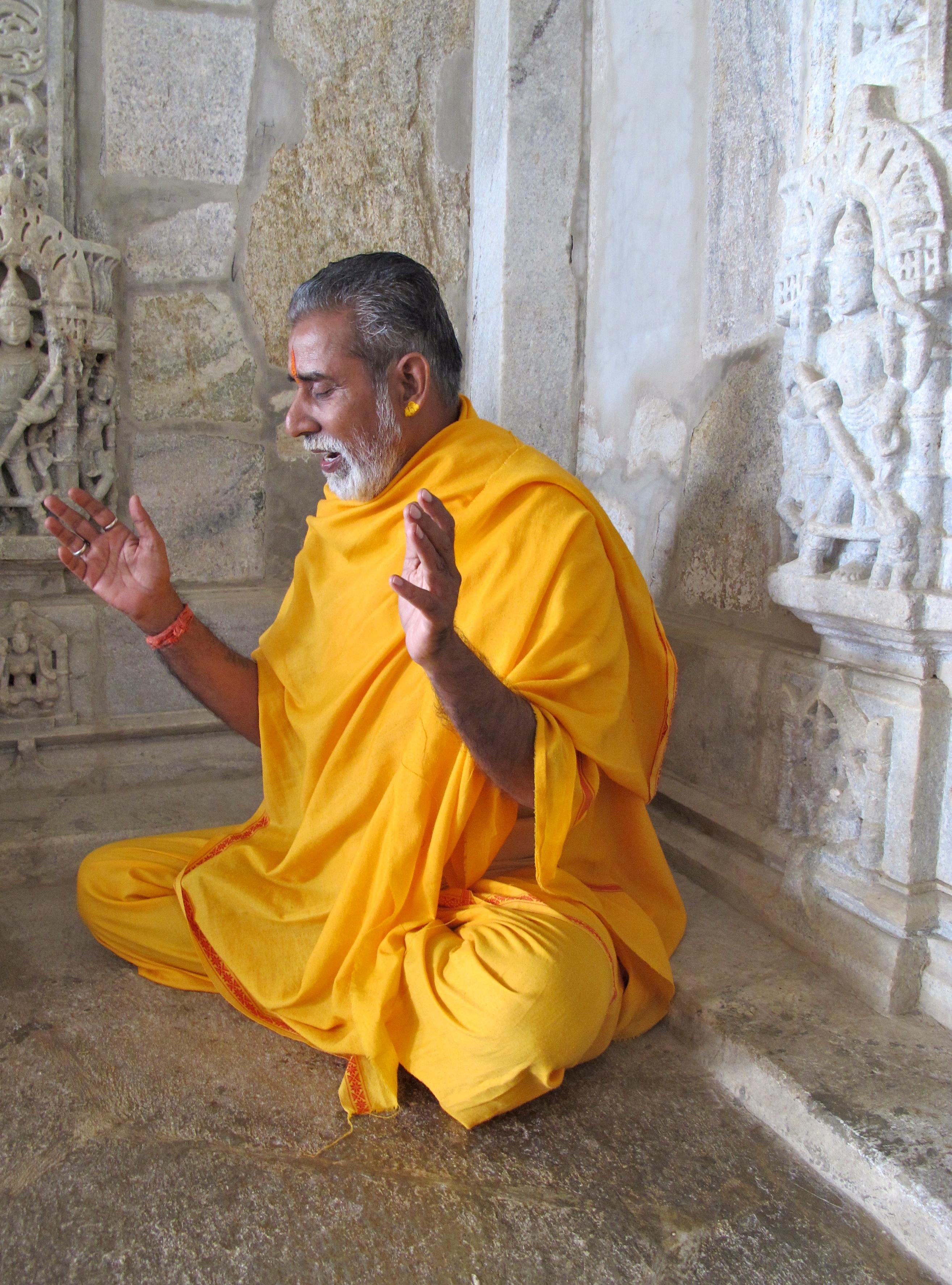 Priest - Jain temples at Ranakpur - India