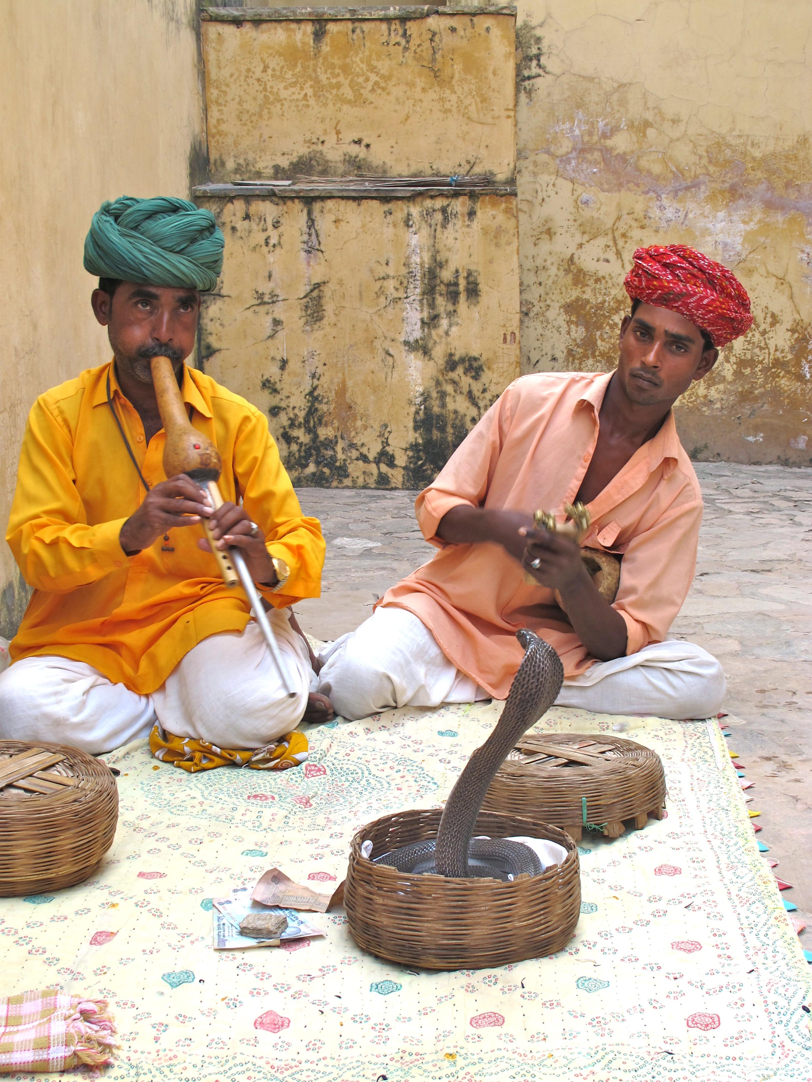 Snake charmers - City Palace - Jaipur - India