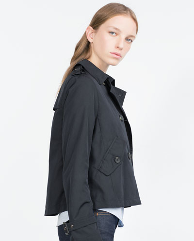 zara rain jacket