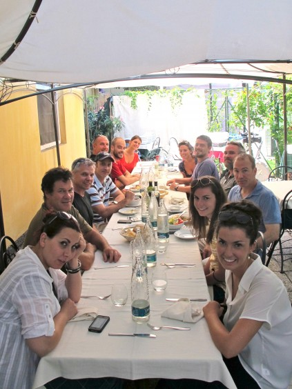 Crew lunch_Chiavari_Italy