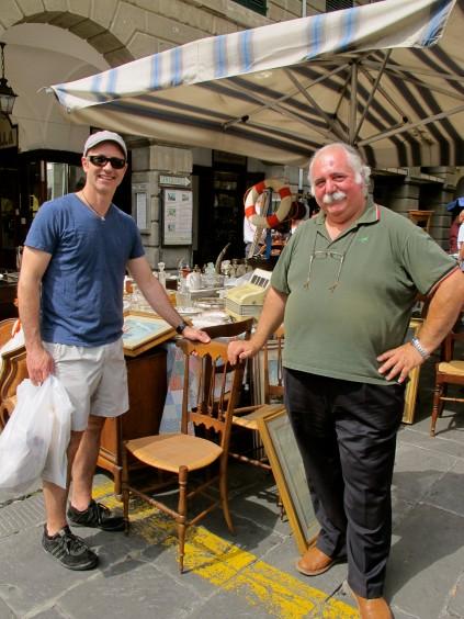 Chiavari flea market_The Brian Boitano Project_HGTV_Favale_Italy