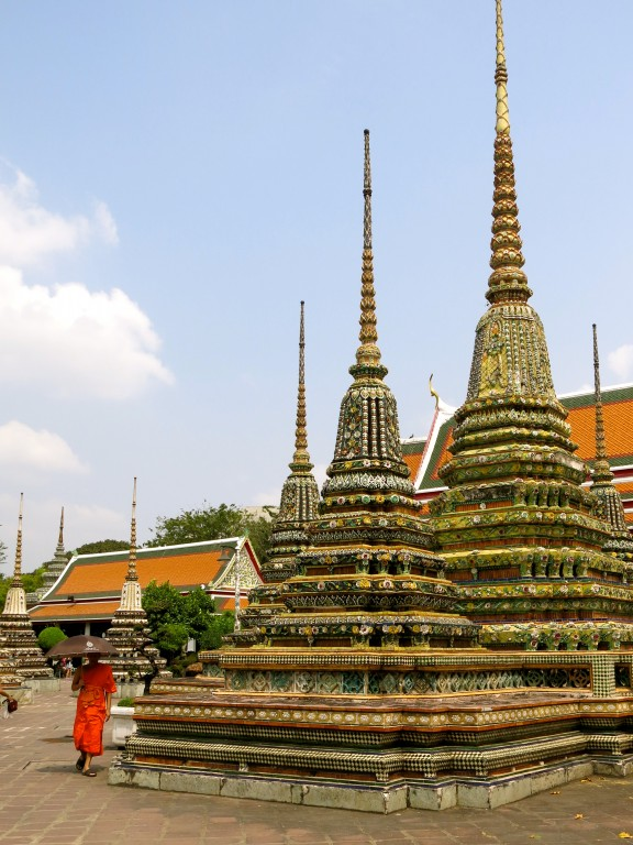 BANGKOK | Lucky charms, a buddha in repose, and monks in training