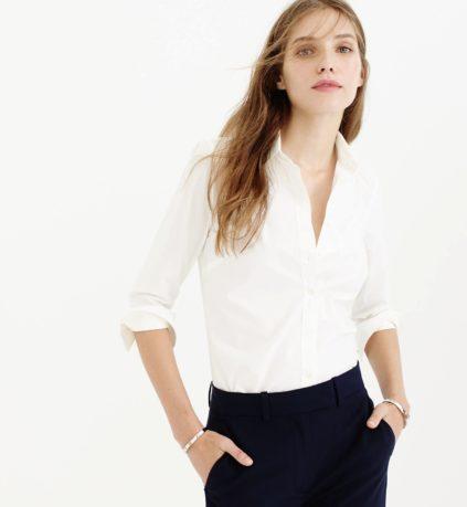 J crew white shirt