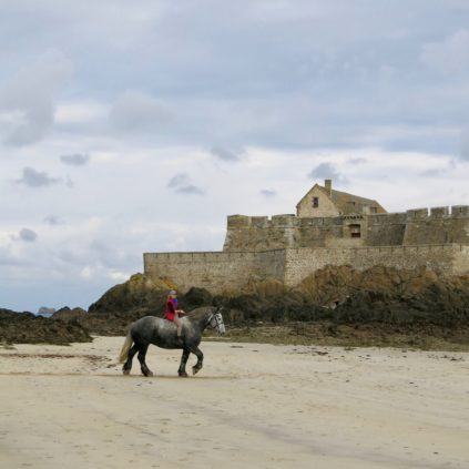 horse_plage de l'eventail_saint-malo_france